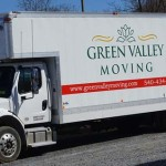 Moving Company truck from Green Valley Moving. Green Valley Moving trucks are powerful enough that even moving in winter is no problem