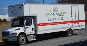 Green Valley Moving company moving truck, perfect for local and long distance moves
