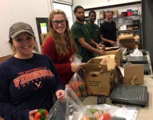 Green Valley Moving volunteers at the Blue Ridge Area Food Bank