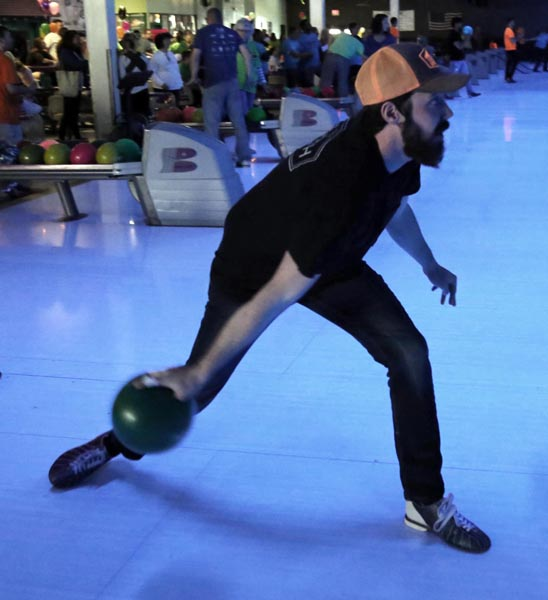 Photo of a bowler at Bowl for Kids' Sake