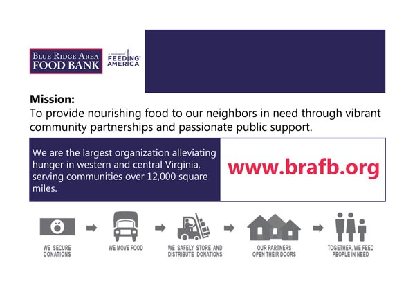 Blue Ridge Area Food Bank poster