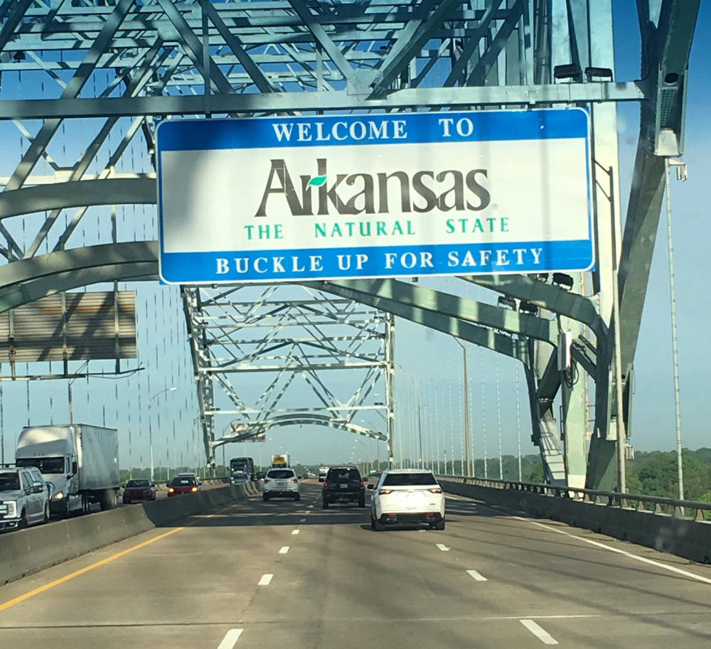 Photo of Arkansas state sign